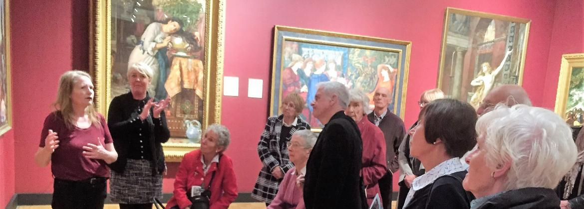 Shhh group members visiting the Laing Gallery